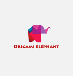color of origami elephant vector image vector image