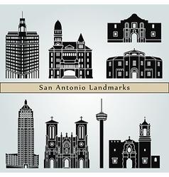 San Antonio landmarks and monuments vector image