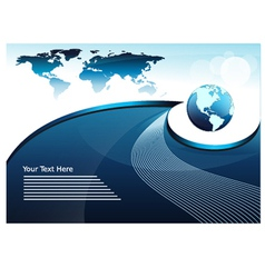 World Map Global Business Concept vector image vector image