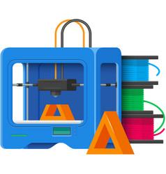 3d printer prototype printing machine vector