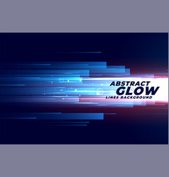 Abstract glowing speed motion lines in forward vector