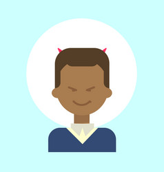 African american male with devil horns emotion vector