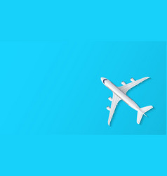 airplane on blue background with copy space for vector image