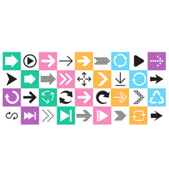 arrow sign icon set collection arrows for web vector image