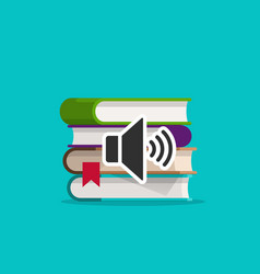 audio books icon flat cartoon vector image