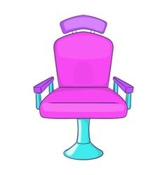 Barber chair icon cartoon style vector