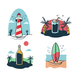 beach holiday mini vector image