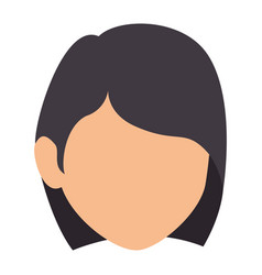 beautiful and young woman head vector image