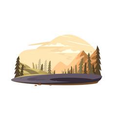 beautiful nature landscape vector image