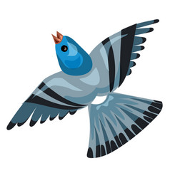 blue pigeon icon cartoon style vector image
