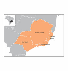 brazil southeast region vector image