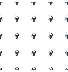 Bull icon pattern seamless white background vector
