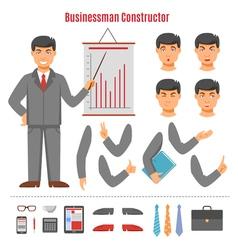 Businessman constructor set vector