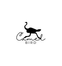 camel bird logo design vector image