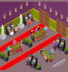 casino house isometric interior vector image