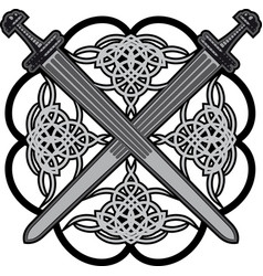 Celtic swords vector
