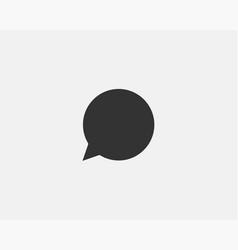 Chat icon design element talk bubble speech sign vector