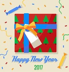 Christmas gift 2017 vector