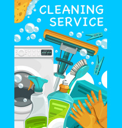 cleaning service house cleaner tools clean home vector image