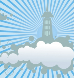 Cloud land vector