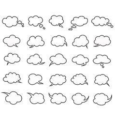 clouds speak bubbles vector image