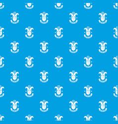 corn pattern seamless blue vector image