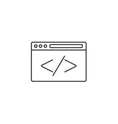 Custom coding icon programming symbol vector