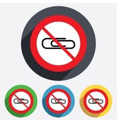 Do not use Paper clip sign icon Clip symbol vector