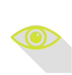 eye sign pear icon with flat style vector image