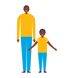 family happy father and son vector image