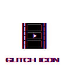 film strip icon flat vector image