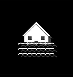flood icon flat vector image
