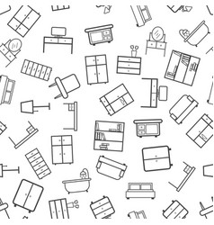 furniture icon seamless pattern background vector image