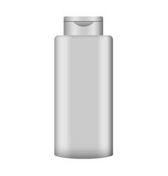 gel hair bottle mockup realistic style vector image