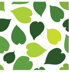 green tropical leaves seamless pattern vector image