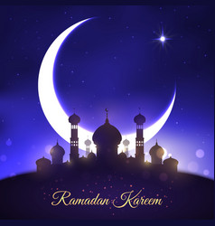 Greeting for ramadan kareem muslim holiday vector