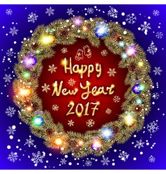 Happy New Year 2017 and Christmas greeting card vector