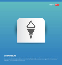 ice cream icon - blue sticker button vector image