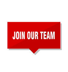 Join our team red tag vector