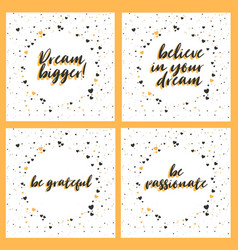 lettering set with inspiring phrases vector image