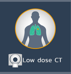 Low dose ct scan logo icon design medical vector