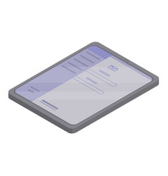 Mail tablet icon isometric style vector