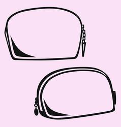 makeup bag cosmetic bag vector image