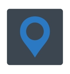 Map Marker flat smooth blue colors rounded button vector image