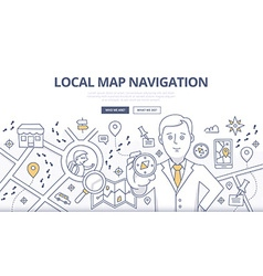 Map Navigation Doodle Concept vector