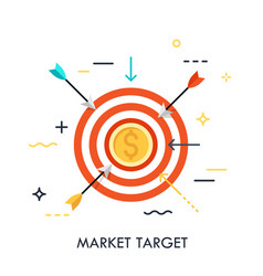 Market goal achievement concept vector