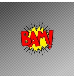 Multicolored comic sound effects in pop art style vector