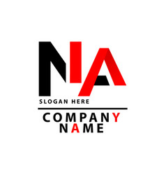 Na logo latter can be used for companies vector