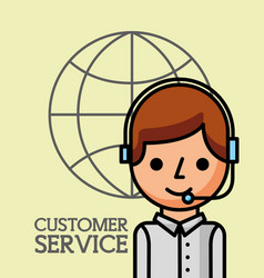 operator man world business customer service vector image