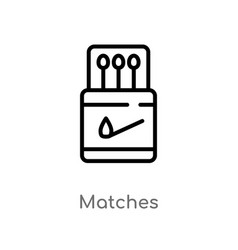 outline matches icon isolated black simple line vector image